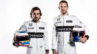 Fernando Alonso y Jenson Button