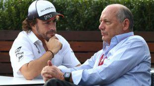 Alonso y Ron Dennis.