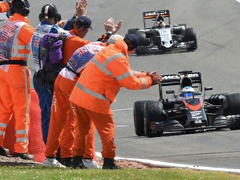 Fernando Alonso, décimo en Silverstone