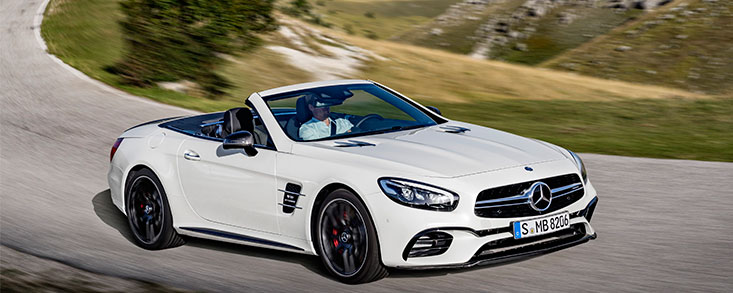 Roadster para cualquier época del año con el Mercedes SL