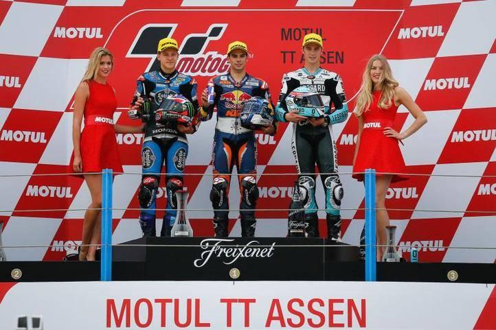 Podio de Moto3 en Assen