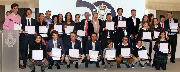 Homenaje de la Federación de Golf de Madrid a sus ganadores en 2018