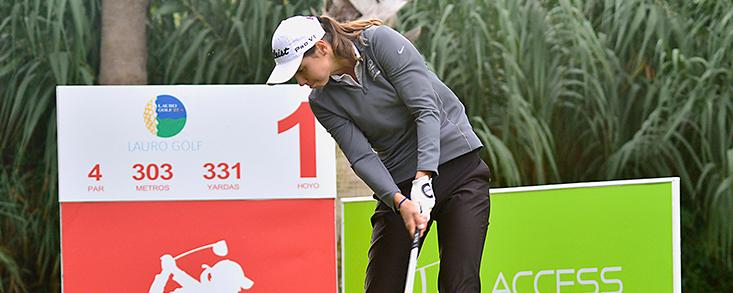 Agathe Laisne, lídera el Santander Golf Tour LETAS Málaga