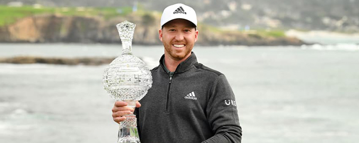 Daniel Berger completa el domingo con eagle para ganar en Pebble Beach