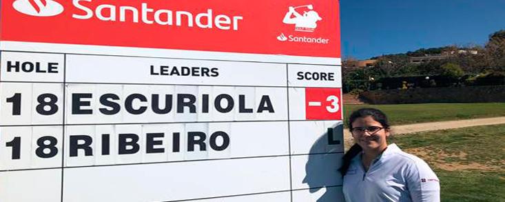 Natalia Escuriola (-3) líder y única jugadora bajo el par del campo