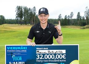 Marcus Helligkilde se estrena en el Challenge Tour ganando un torneo que dominó de principio a fin
