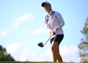 Nuria Iturrioz se prepara para ganar el Symetra Tour Championship