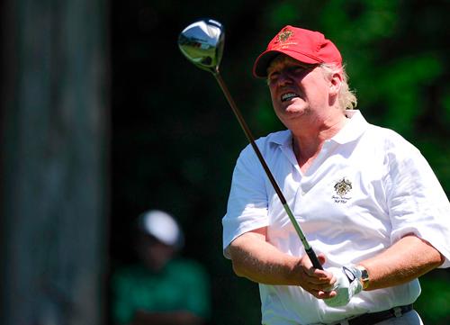 Donald Trump y Lexi Thomson compartieron 18 hoyos en Florida