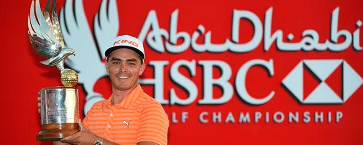 Rickie Fowler gana en Abu Dhabi y presenta batalla para este año