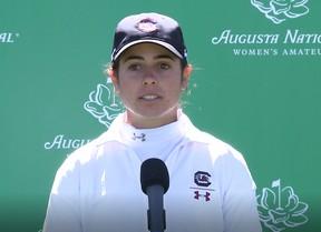 Ana Peláez acaba vigésimo primera (+6) y jugará hoy en el Augusta National