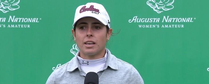 Ana Pelaez lídera la clasificación en el Golf Santander