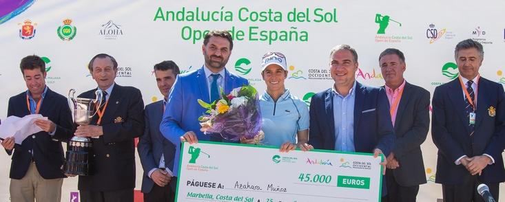 Azahara entra en la historia dando la primera victoria española en el Open