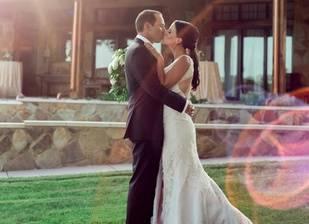 La primera imagen de Sergio García y Angela Akins tras su boda