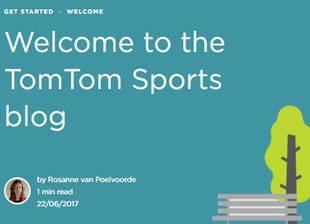 Nuevo blog de TomTom Sports