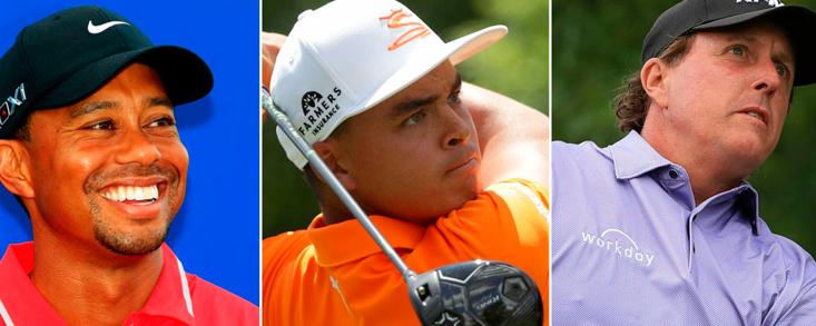 Tiger Woods, Ricky Fowler y Phil Mickelson, partido estelar jueves y viernes