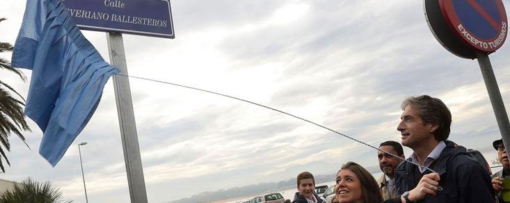 Severiano Ballesteros ya tiene una calle en Santander