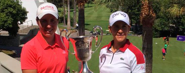 Carlota Ciganda y Azahara Muñoz: 'Nos motiva mucho el Open de España'