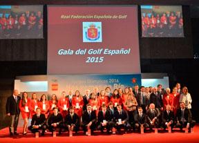 La fiesta del golf en la sede del Comité Olímpico Español