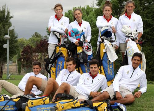 Cuatro chicos y cuatro chicas integran el programa de la Federación de Golf de Madrid que posibilita estudios y golf