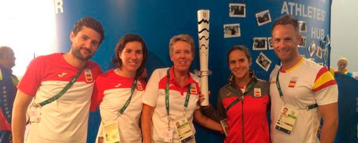 Carlota Ciganda y Azahara Muñoz, en su semana olímpica