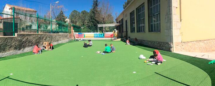 Un green para el recreo en el colegio