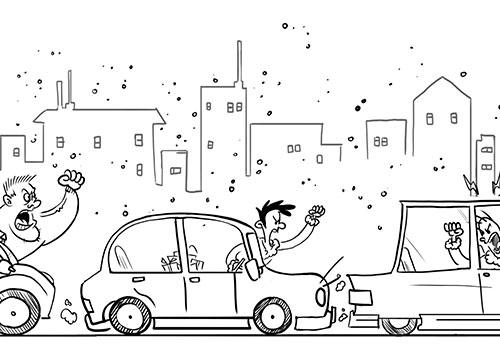 Un conductor agresivo provoca que los demás le imiten