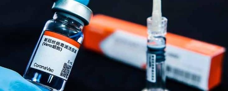 La vacuna china CoronaVac sólo es eficaz al 50,38%