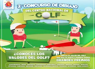 """Segundo concurso de dibujo """"Los valores del golf"""" en el CNG"""