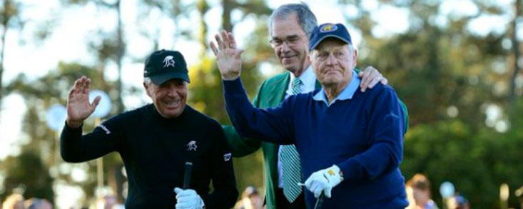 Player y Nicklaus con Arnold Palmer en el recuerdo