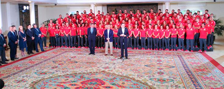 Río 2016: El equipo olímpico, recibido por Rajoy