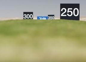 La calle de golf más estrecha del mundo está en el desierto