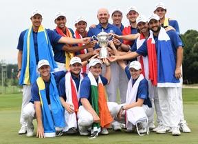 Los europeos dominaron los individuales ganando 8 de los 12 partidos