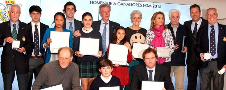 La Federación de Golf de Madrid homenajea a los mejores de 2015