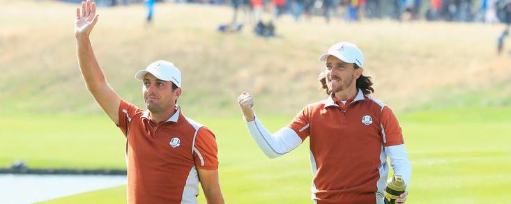 Molinari y Fleetwood se consagran como la pareja de la Ryder Cup de París