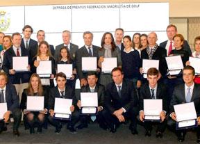 Homenaje de la Federación de Golf de Madrid a los madrileños triunfadores de 2016