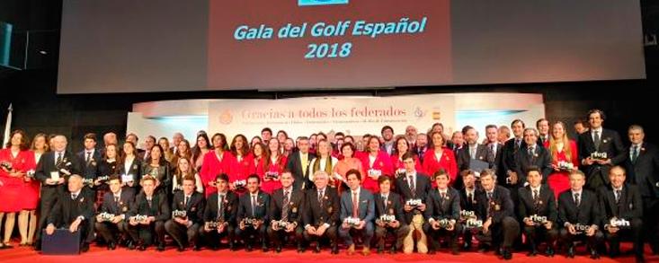 La Gala del Golf Español, aluvión de triunfos en homenaje a Celia Barquín