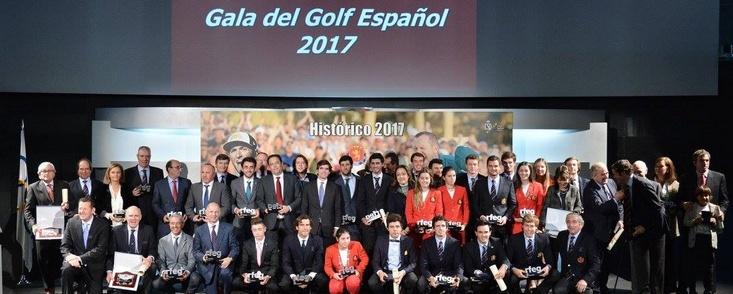 El golf español se viste de gala para homenajear a los mejores de 2017