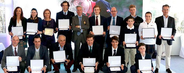 32 campeones de 2017 reciben el reconocimiento de la Federación de Golf de Madrid