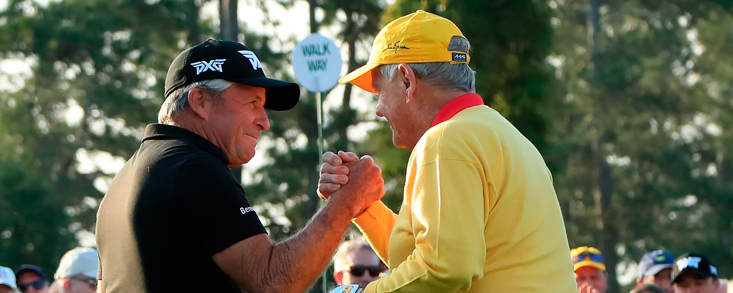Gary Player y Jack Nicklaus arrancan el Masters 2019