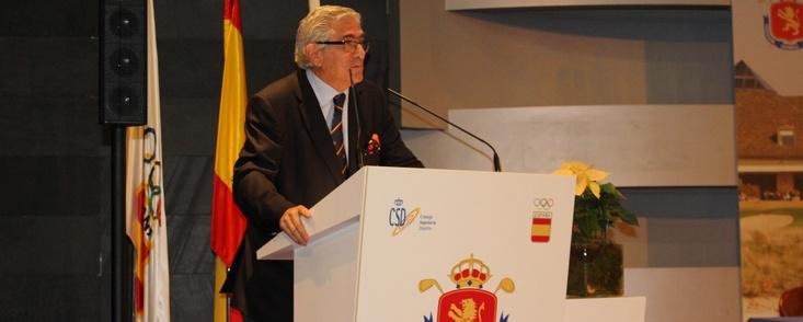 Gonzaga Escauriaza, reelegido presidente de la Real Federación Española de Golf