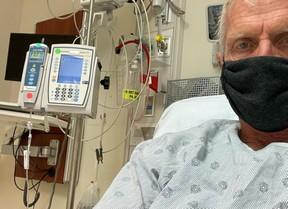 Greg Norman volvió al hospital para una transfusión de anticuerpos