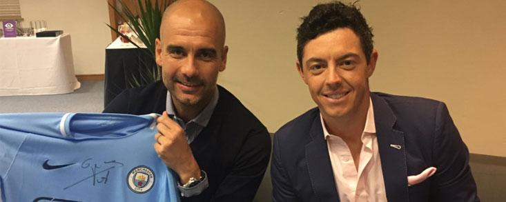 Pep Guardiola y Rory Mcilroy, admiradores mutuos
