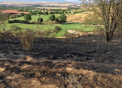Incendio y susto en Retamares