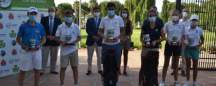 Lauro Golf corona a los Campeones de Andalucía Infantil, Alevín y Benjamín