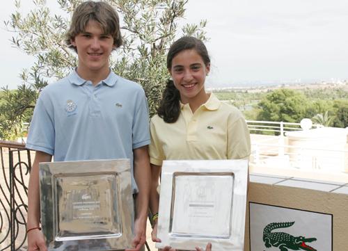 Marta Silva y Juan Sarasti, primera cosecha del Lacoste Promesas