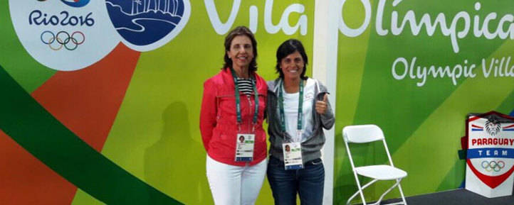 Julieta Granada, primera golfista de la historia en ser abanderada