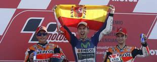 Jorge Lorenzo, campeón en Valencia