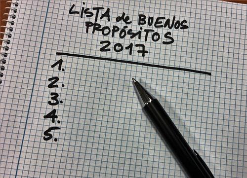 'Buenos propósitos para el 2017'