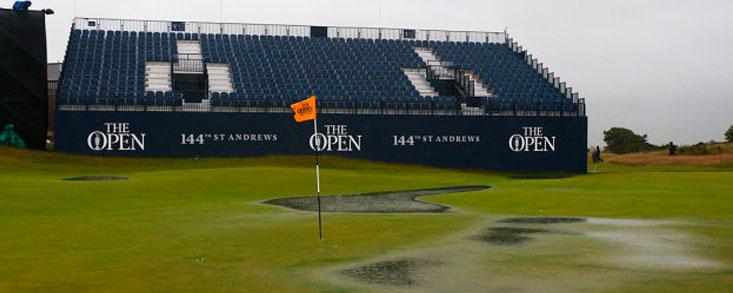 St. Andrews y las fuertes lluvias ya mandan en el Open