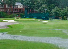 La lluvia aparece en Alabama y Carlota Ciganda se asoma a los primeros puestos